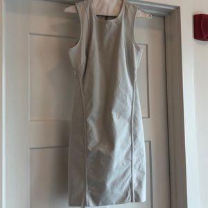 Helmut Lang Dresses - NWOT Helmut Lang Compress Mesh Trim Twill Dress